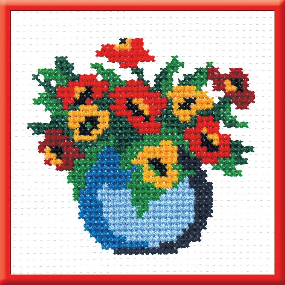 Картинки для вышивания крестом цветы простые