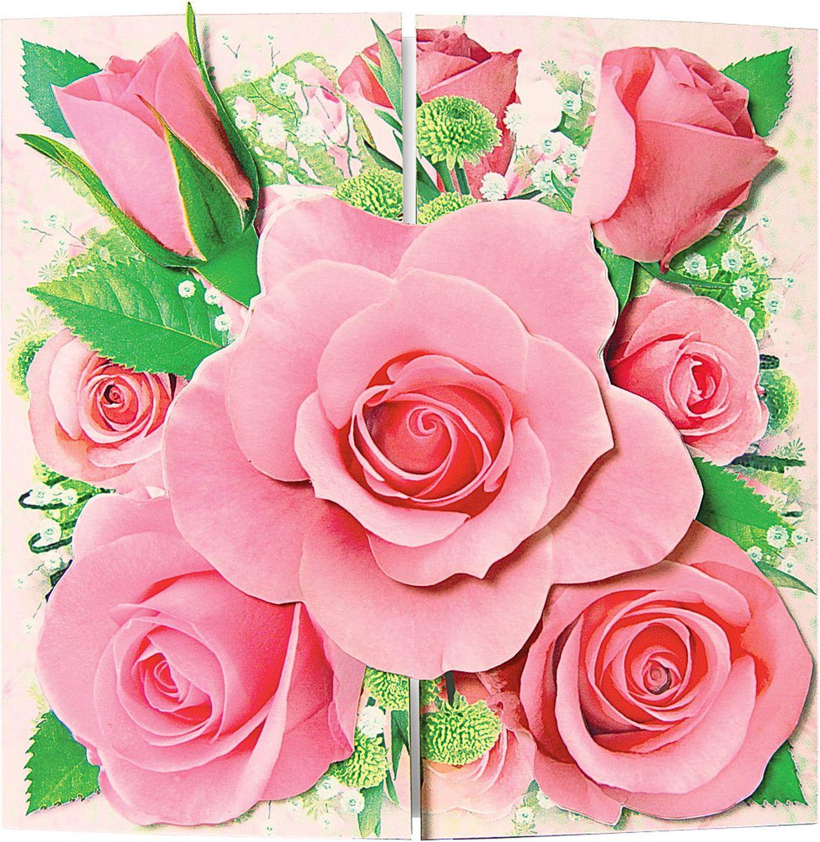 Объемные цветы для открыток и плакатов, мая детьми